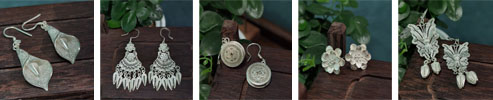 Miao Tribe 999 Silver Filigree Earrings