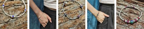 Thai 925 Silver Enamel Bracelet