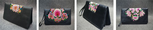 Antique Embroidery Clutch Bag