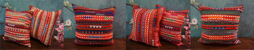 Akha embroidered cushion cover